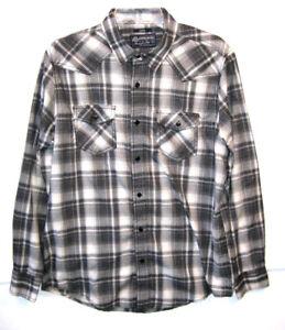 American-Rag-Shirt-Long-Sleeve-Gray-Size-Large-Mens-10