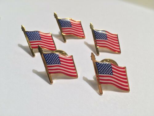 American Flag Lapel Pin *MADE IN USA* Lots 1 5 25 100 Memoial Day 4th of July