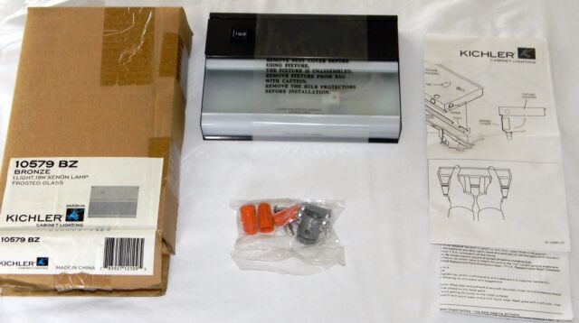 NEW Kichler 10581BZ 3 Light Xenon Series II Cabinet Lighting 54W 120V Bronze