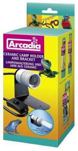 Arcadia Ceramic Reptile Light Lamp Holder Bracket E27 Compact For Vivarium For Sale Online Ebay