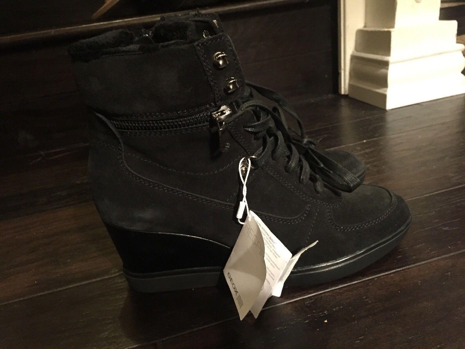 Geox Eleni Suede Wedge Sneaker
