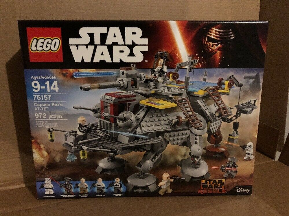 LEGO Star Wars Rebels Captain Rex's AT-TE 75157 SEALED Retirosso FREE SHIPPING