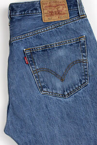 Levi-039-s-Strauss-amp-Co-Hommes-501-Jeans-Jambe-Droite-Taille-W36-L28-AOZ567