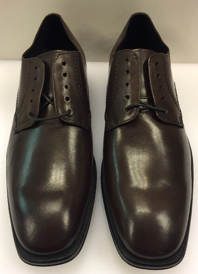 Johnston & Murphy Men 9.5 M Birchett Plain Toe Oxfords Brown Leather 59-1916