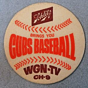 1969 CHICAGO CUBS WGN-TV CH-9 Schlitz Beer coaster BASEBALL