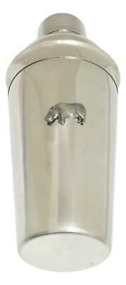Hippo Cocktail Shaker Mixer With Built In Strainer Wildlife Gift 180