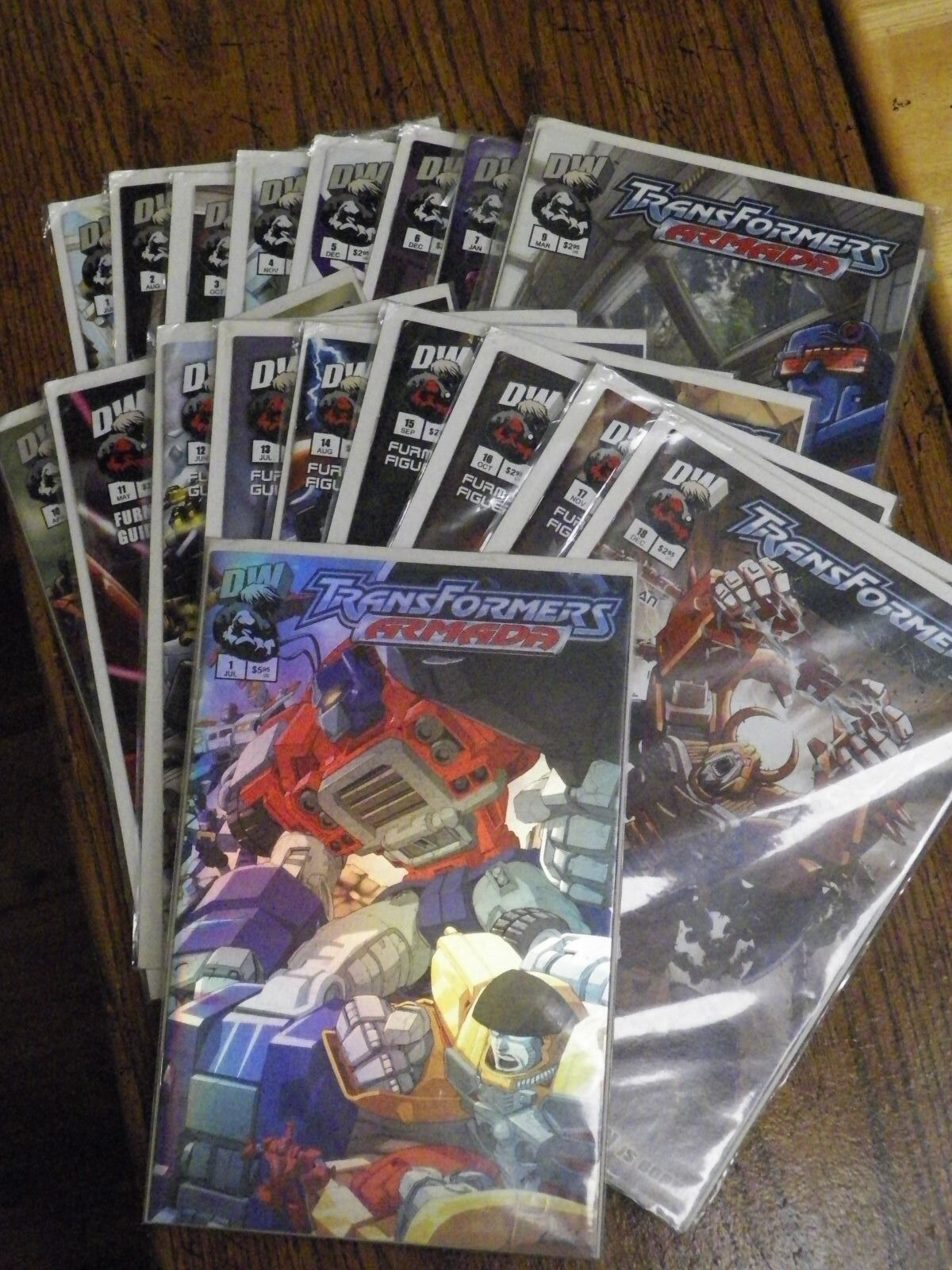 DW Transformers Armada complete set + holographic vol 1