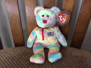 """Ty Beanie Baby """"WIRABEAR"""" the Bear MWMT 2003 / Asia-Pacific 2003 Malaysia Exclus"""
