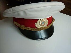 Russische-Muetze-Schirmmuetze-Parade-Miliz-Offizier-original-von-1989-selten
