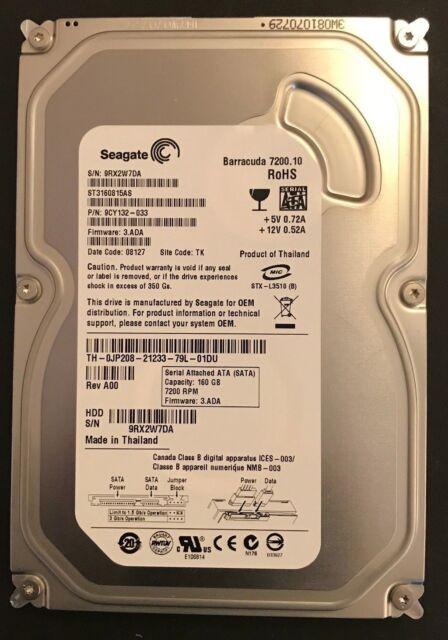 """Seagate Barracuda 3.5/"""" SATA 160GB ST3160815AS 7200 RPM HDD Hard Drive"""