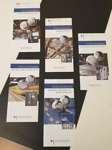 Original-VfS-Flyer-Zertifikate-10-Euro-Silber-Gedenkmuenzen-Komplettset-alle-76
