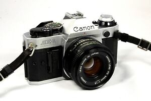 Canon AE-1 Program 35mm SLR Camera with 50mm f/1.8 Lens -Very Good Fast Shipping