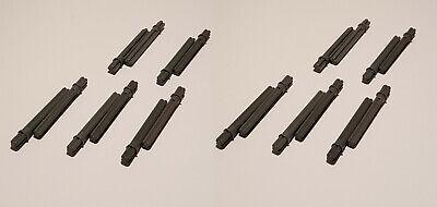 10x Lego Technic Achse 5L mit Anschlag dunkelbeige sand 15462 Technik 5 6055631