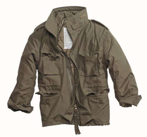 M65 COMBAT FIELD JACKET MENS VINTAGE TYPE MILITARY ARMY COAT QUILTED LINER OLIVE