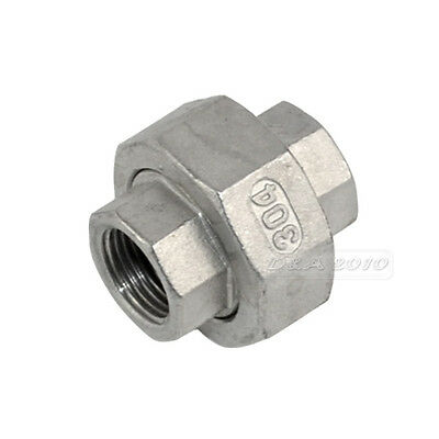 "1/2"" Malleable Straight Union Coulping Pipe Fitting Stainless Steel 304 F/F BSP"