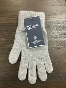 Men-039-s-Pure-Cashmere-Gloves-Johnstons-of-Elgin-Made-in-Scotland-Grey