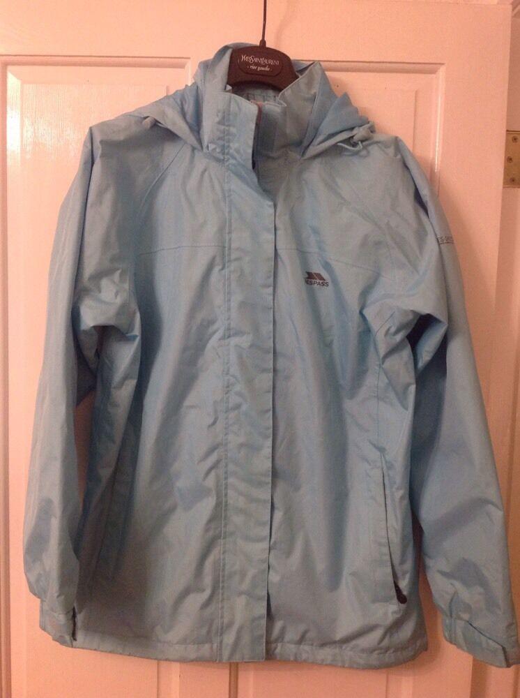 Trespass Damen Blue Waterproof Windproof Jacket Größe L