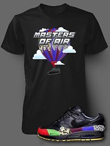 T Shirt to Match AIR MAX 1 MASTERS OF AIR Shoe Pro Club Graphic Black Tee SS