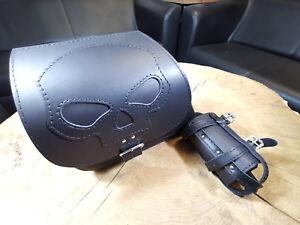 Harley-Davidson-Dyna-Skull-Black-HD-Seitentasche-Schwingentasche-Streetbob-Bob