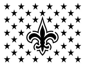 "New Orleans Saints 8.5/"" x 11/"" Custom Stencil FAST FREE SHIPPING 18"