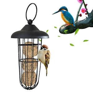 Wild Bird Feeder Squirrel Proof Outdoor Garden Fat Ball Food Tree Hanging Patio