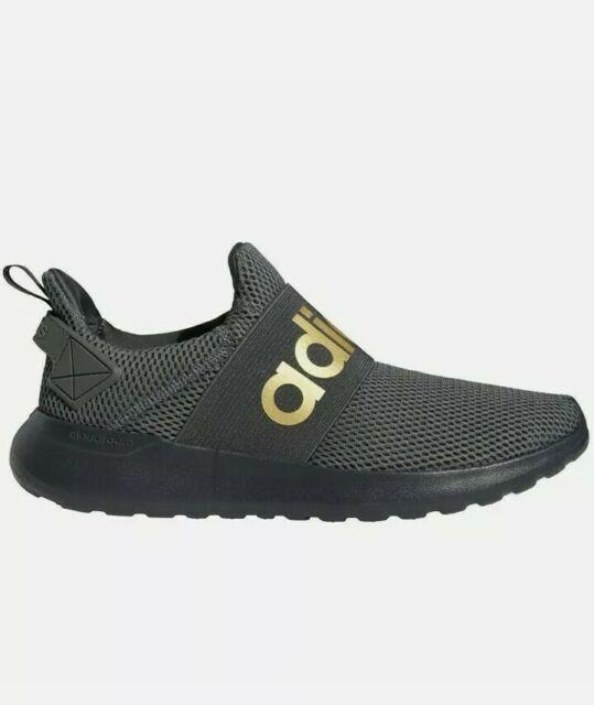 [FV8602] Mens Adidas Lite Racer Adapt Men's 12 Black Gold Running Athletic!!