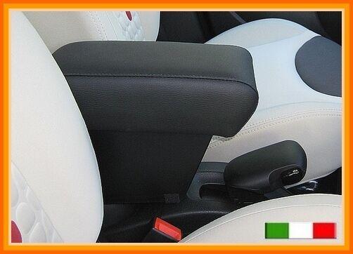 BRACCIOLO mod. XXL per Fiat 500 L +grande portaoggetti in SIMILPELLE NERA