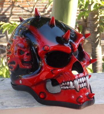 3D Airbrush Skull Helmet Full Face