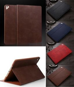 """Luxury Real Leather Smart Flip stand Case Cover For New Apple iPad 9.7"""" 2017 18"""