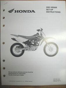 Cool 2003 Honda Xr80R Set Up Instructions Wiring Diagram Ebay Wiring Database Gramgelartorg