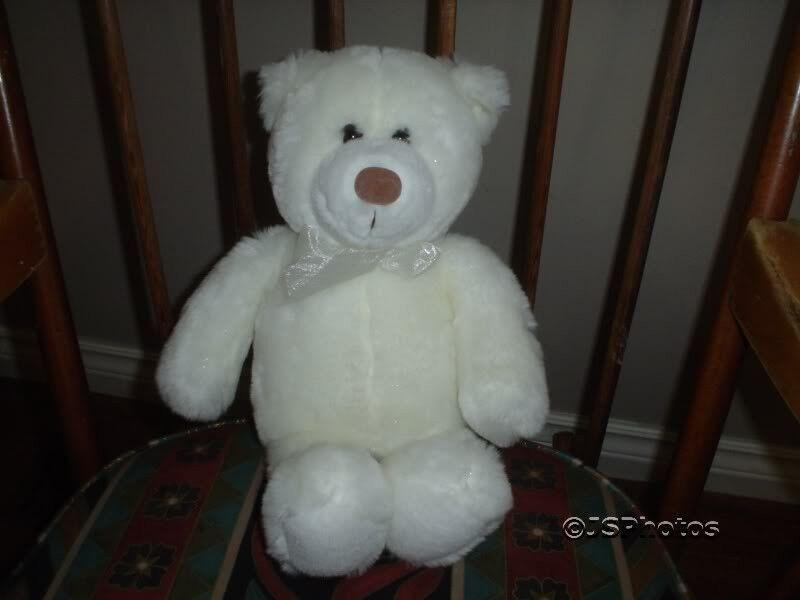 Gund 2000 bianca Sparkle Teddy Teddy Teddy orso 40876 539337