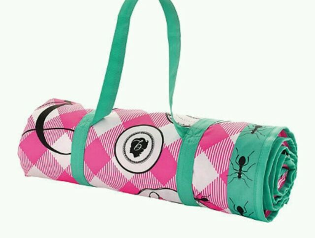 "NEW Benefit Cosmetics Picnic Blanket 57"" X 57"" NEW in box"