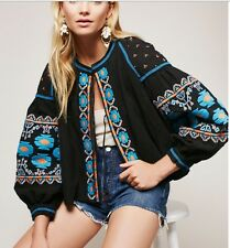 New With Tag Free People Swingy Jacket. Embroidered Black Combo. XS Size. $168
