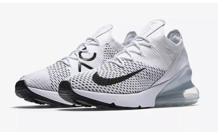 Nike Nike Nike Air Max 270 Flyknit Women's Sz 12 AH6803-100 Pure Platinum Running shoes 4597f2