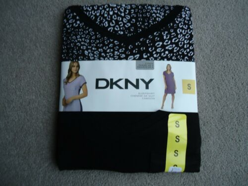 DKNY Sleepshirt  Size S  Super Comfortable 2 PACK  Plain and Patterned  Black