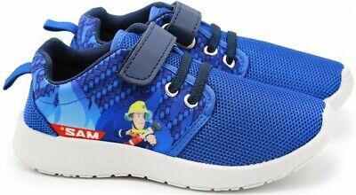 FEUERWEHRMANN SAM Jungen Halbschuh Sneaker Schuhe Klettverschluss Turnschuh blau