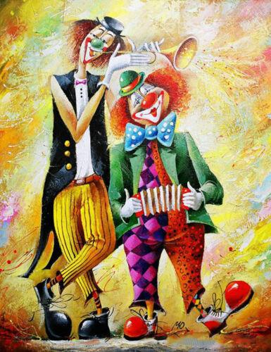 5D DIY Full drill Diamond Painting Clown Musical Instruments Fashion Decor 1034H