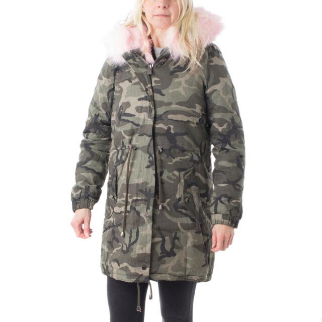 cheap for discount 4fb62 a9956 Osley Parka Cappotto da Donna Giubbotto invernale pelo Mimetico 42814  Mimetici/rosa 38 cotone