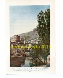 Bridge-of-Mostar-Bosnia-Book-Illustration-Print-c1920