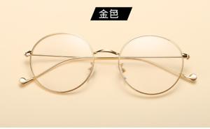 662da774061e Retro  retro Eyeglass frames Full-rim metal eyewear Glasses golden ...