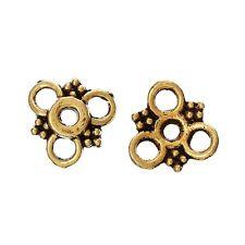 30x perlas tapas perlkappen remates filigrana flores para 12-18 mm perlas metal