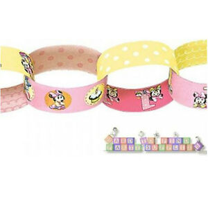 MINNIE MOUSE 1st BIRTHDAY PAPER CHAIN LINK GARLAND First Party