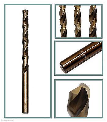 HSS-CO 6.9mm Dia 2 Flutes Cutting Round Straight Shank Twist Drill Bit Black