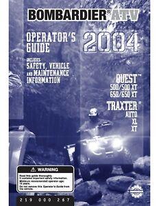 Bombardier 2004 Quest 650 XT Service Manual
