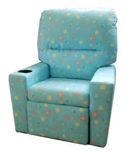 Kids Children Recliner With Cup Holder Easy Clean Cloth 4