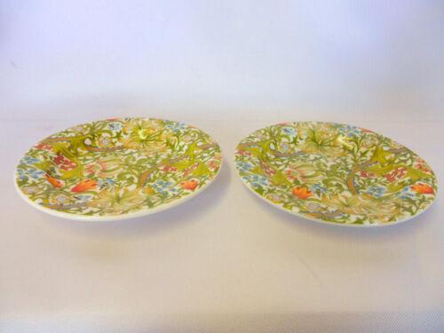 Lot de 2 William Morris Golden Lilly Design Chine Coasters