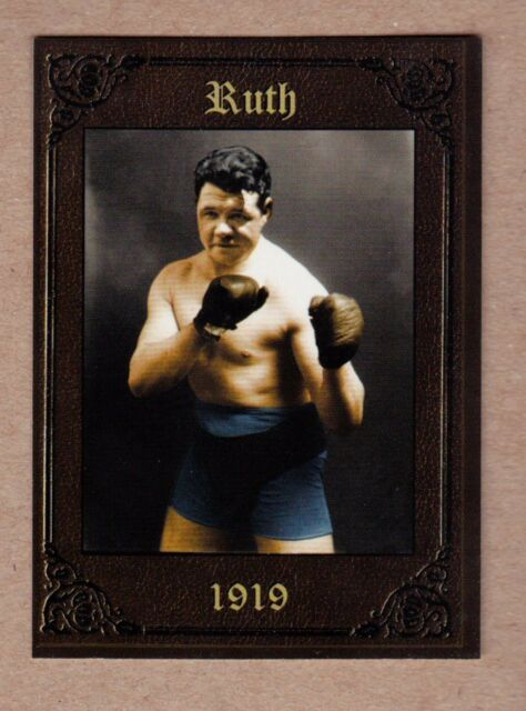 Babe Ruth as a boxer/prizefighter Boston Red Sox MC serial numbered #/200 🔥