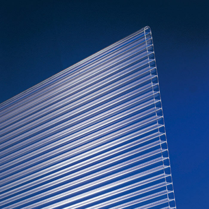 Doppelstegplatten Stegplatten Hohlkammerplatten Polycarbonat 10mm klar farblos