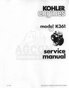 kohler k361 18 hp 231 one cyl engine service manual ebay rh ebay com Kohler K482 Kohler Engine Carburetor Problems