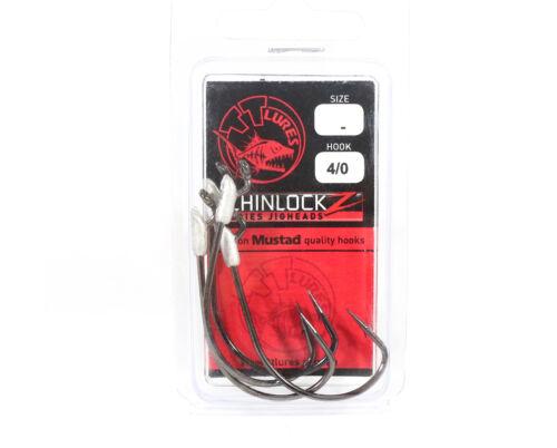 Tackle Tactics TT ChinlockZ Unweighted Worm Hook 4//0 4 per pack 0916